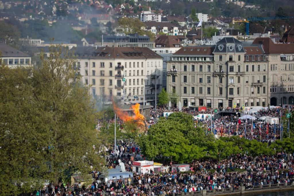 The Böögg Goes Up In Smoke In Zurich!
