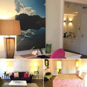 Bedrooms at hotel Giardino Ascona