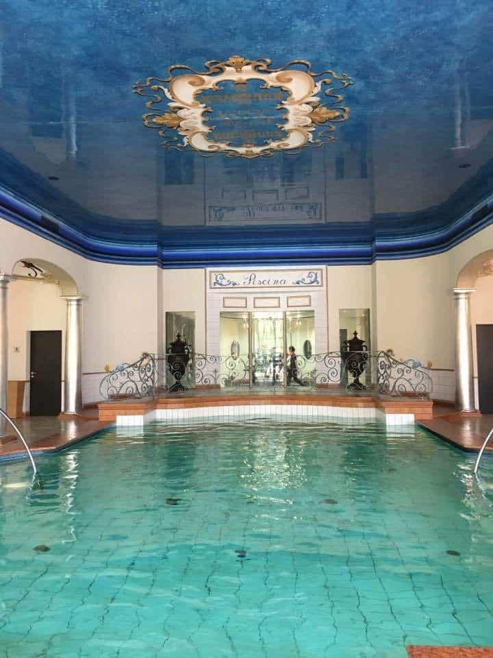 The indoor pool at the Hotel Giardino Ascona