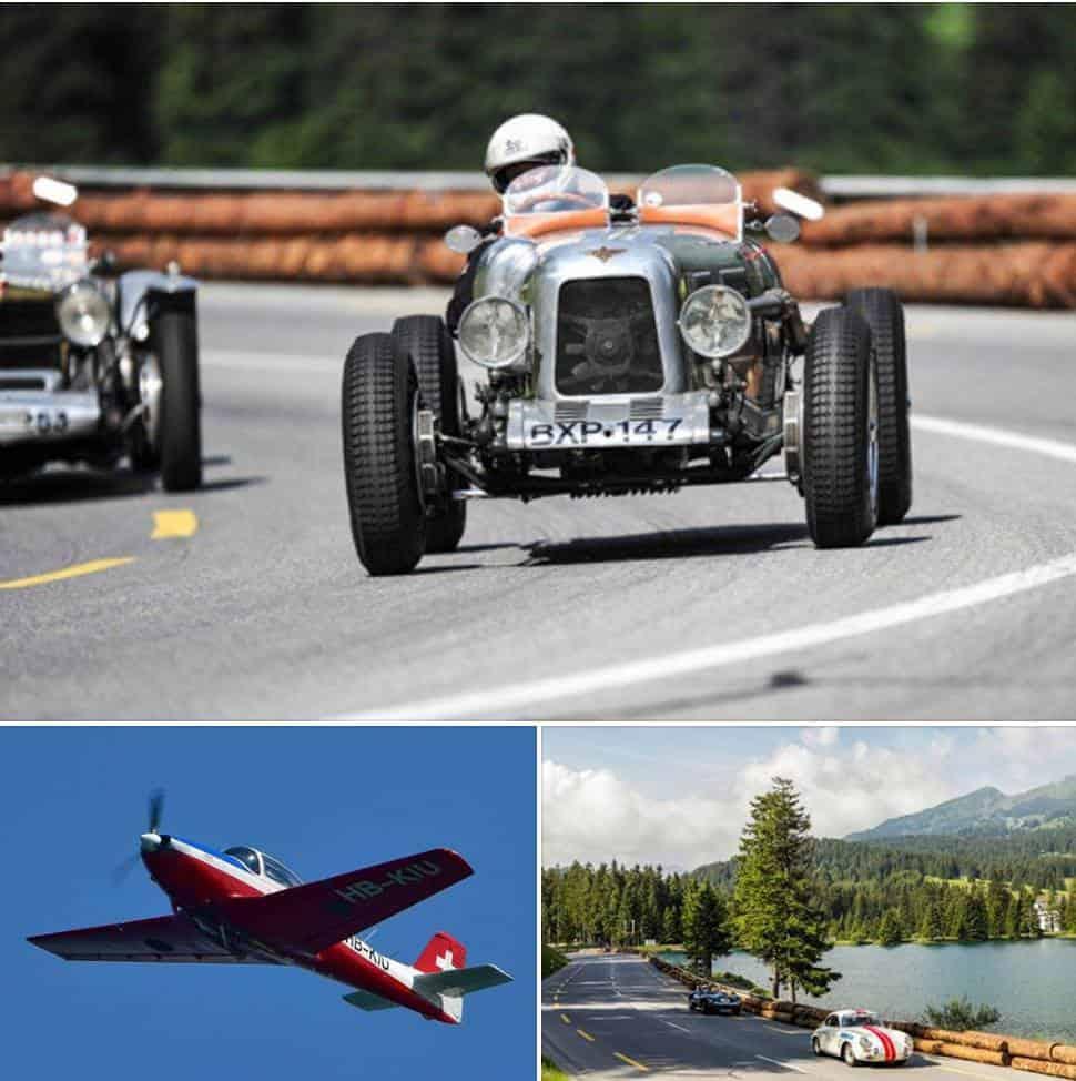 Air show for Lenzerheide Motor Classics
