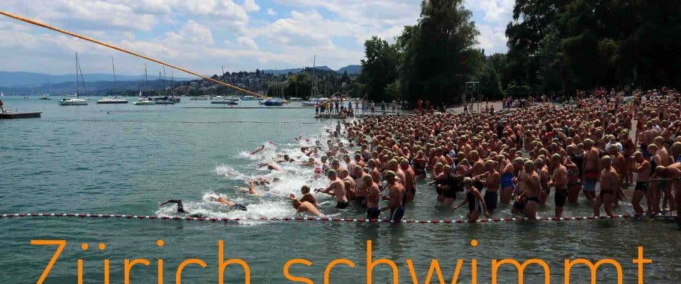 The Zurich Seeüberquerung Mythenquai to Tiefenbrunnen 3rd July 2019