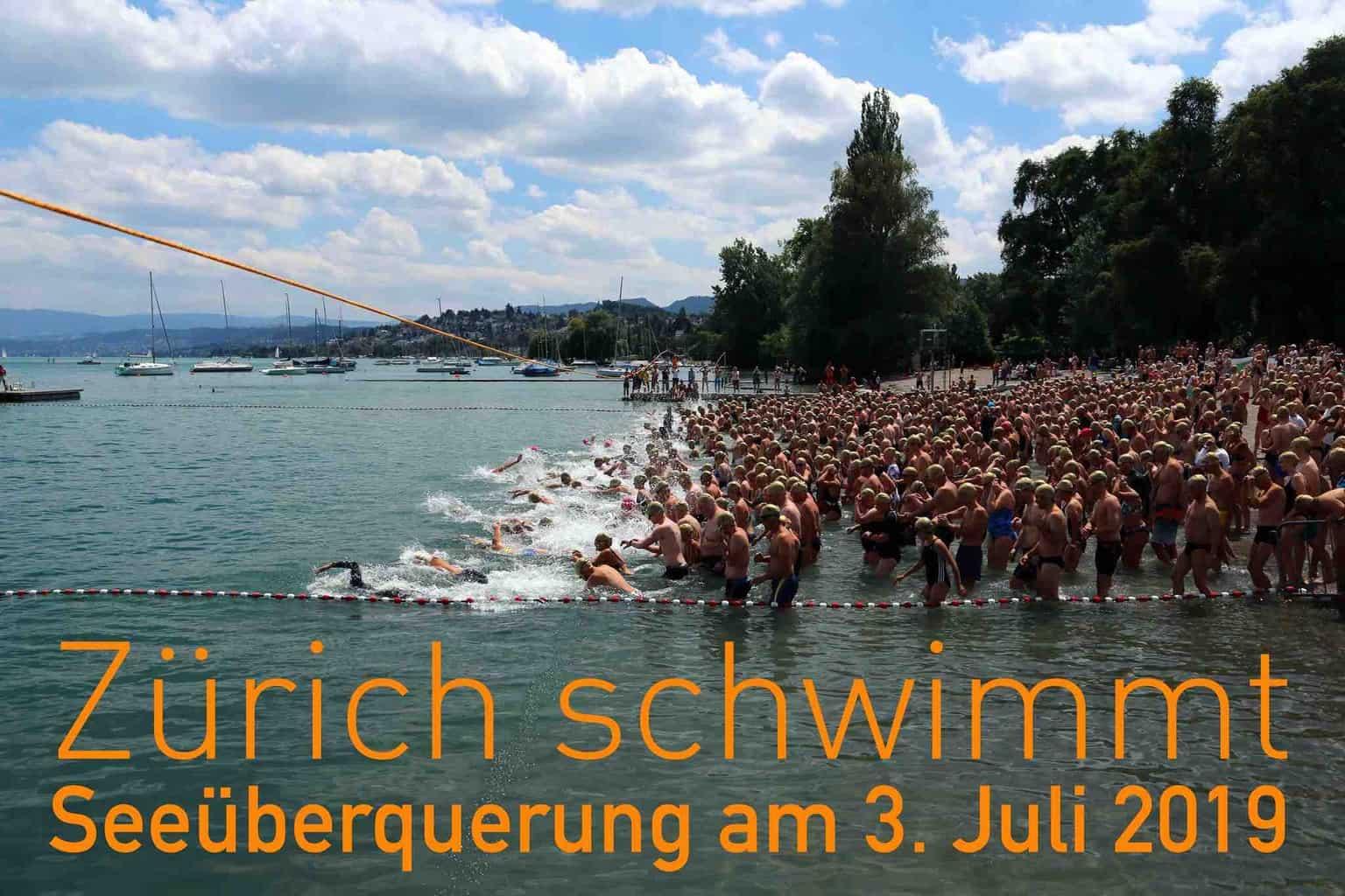 The Zurich Seeüberquerung Mythenquai to Tiefenbrunnen 3rd July 2019