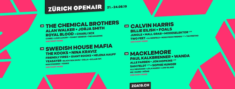 Zurich Openair Music Festival 2019