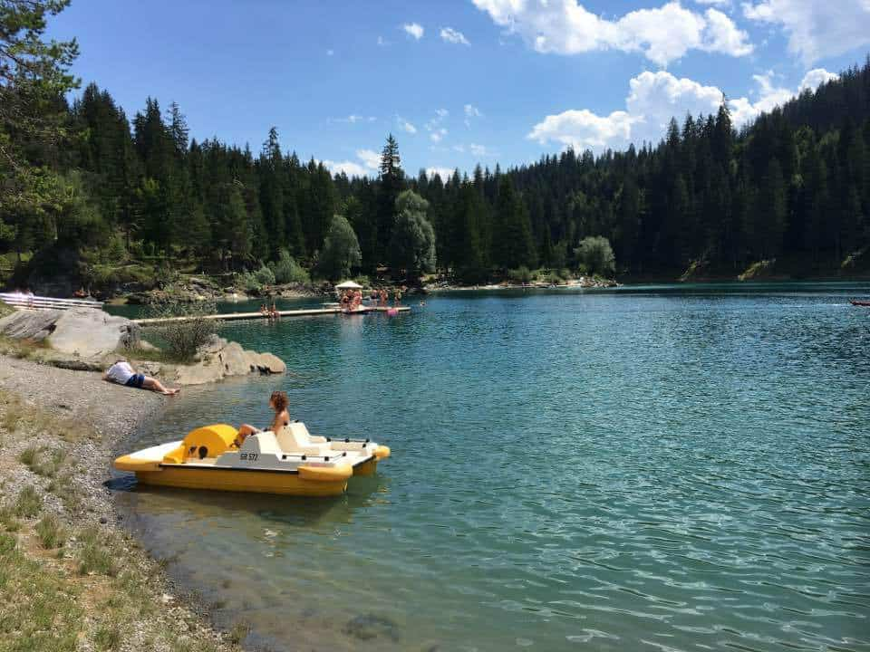 Lake Caumasee Flims Switzerland - The Turquoise Lake