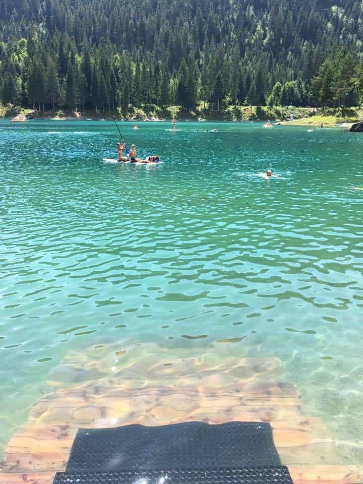 Lake caumasee Flims Graubünden