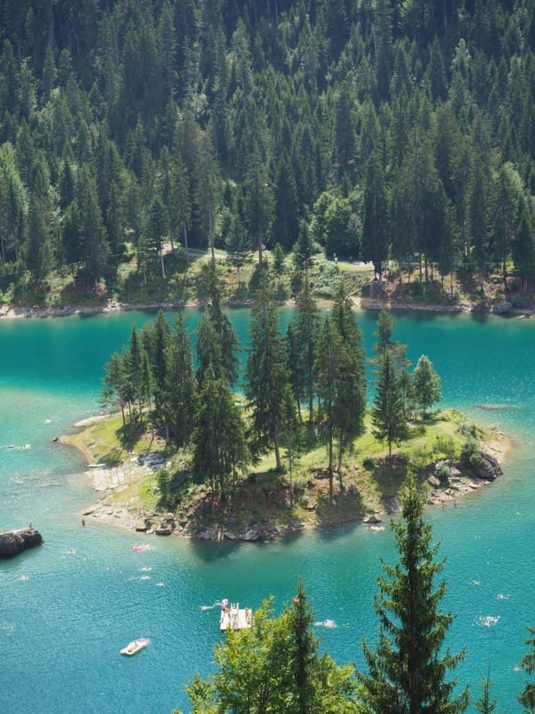 Funicular Lake Caumasee Films Switzerland
