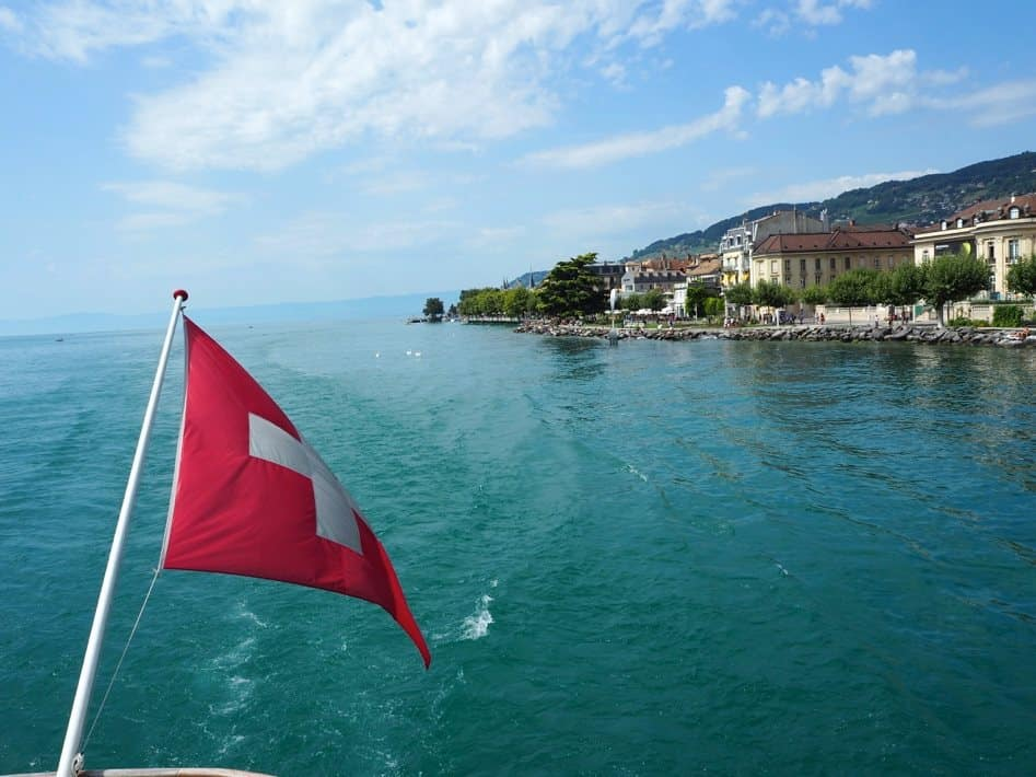Boat ride on Lac Leman Switzerland