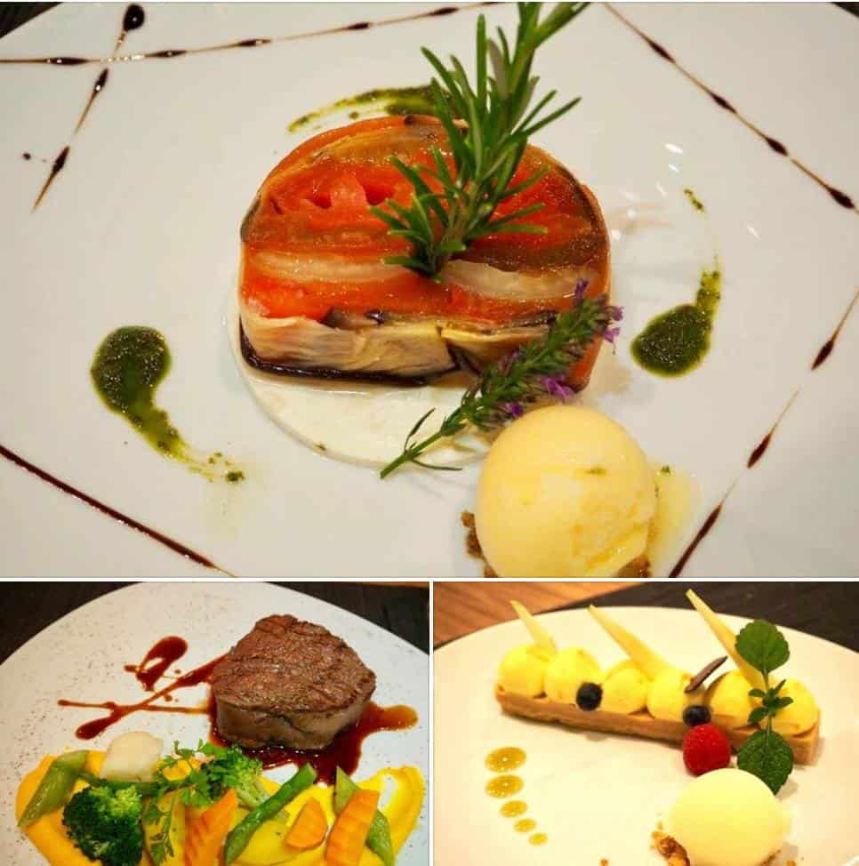 Delicious food at the Modern Times Hotel Vevey