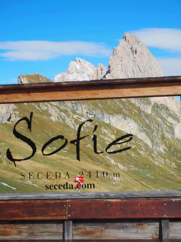 Restaurant Sofie Hütte 2410 Dolomites