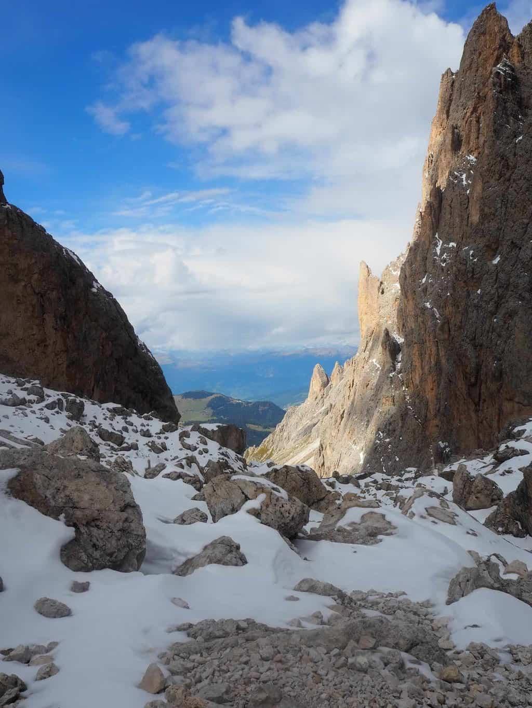 View from near refugio Toni Demetz Dolomites