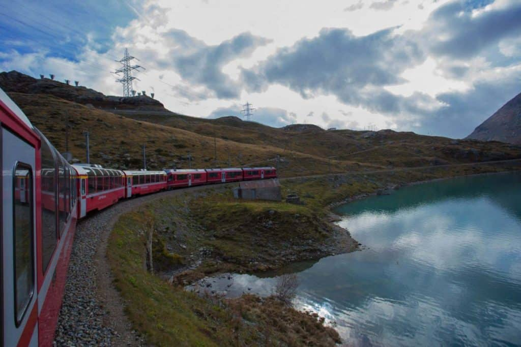 A trip on the Bernina Express in Switzerland