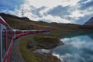 A trip on the Bernina Express in Switzerland