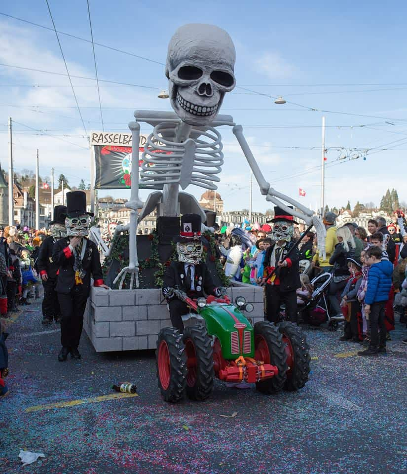 Grim carnival parades Switzerland