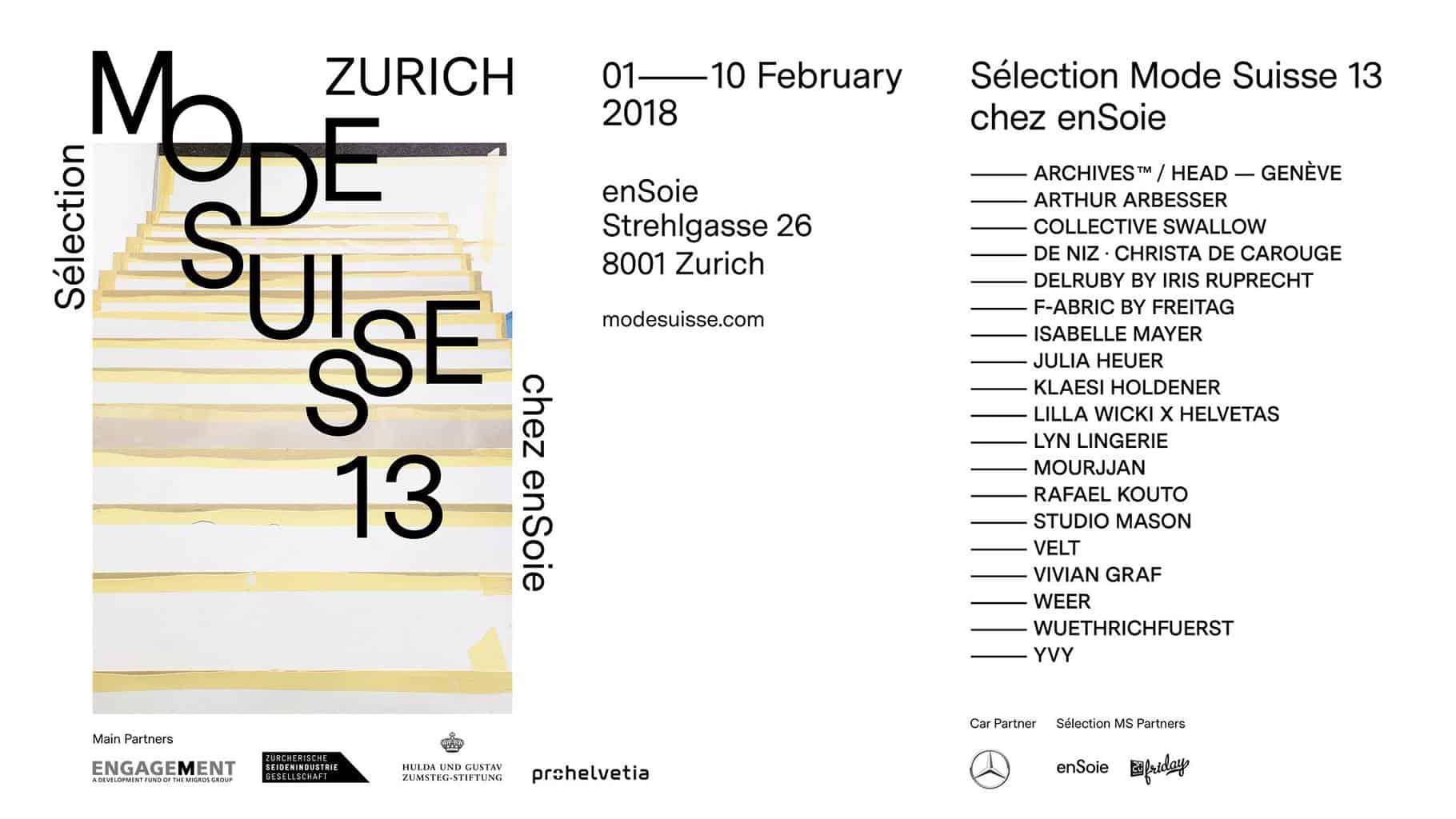 Mode Suisse Edition 13 Zurich
