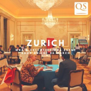 QS MBA EVENT ZURICH at Bar au Lac