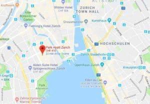 Google Map of Park Hyatt Hotel Zurich
