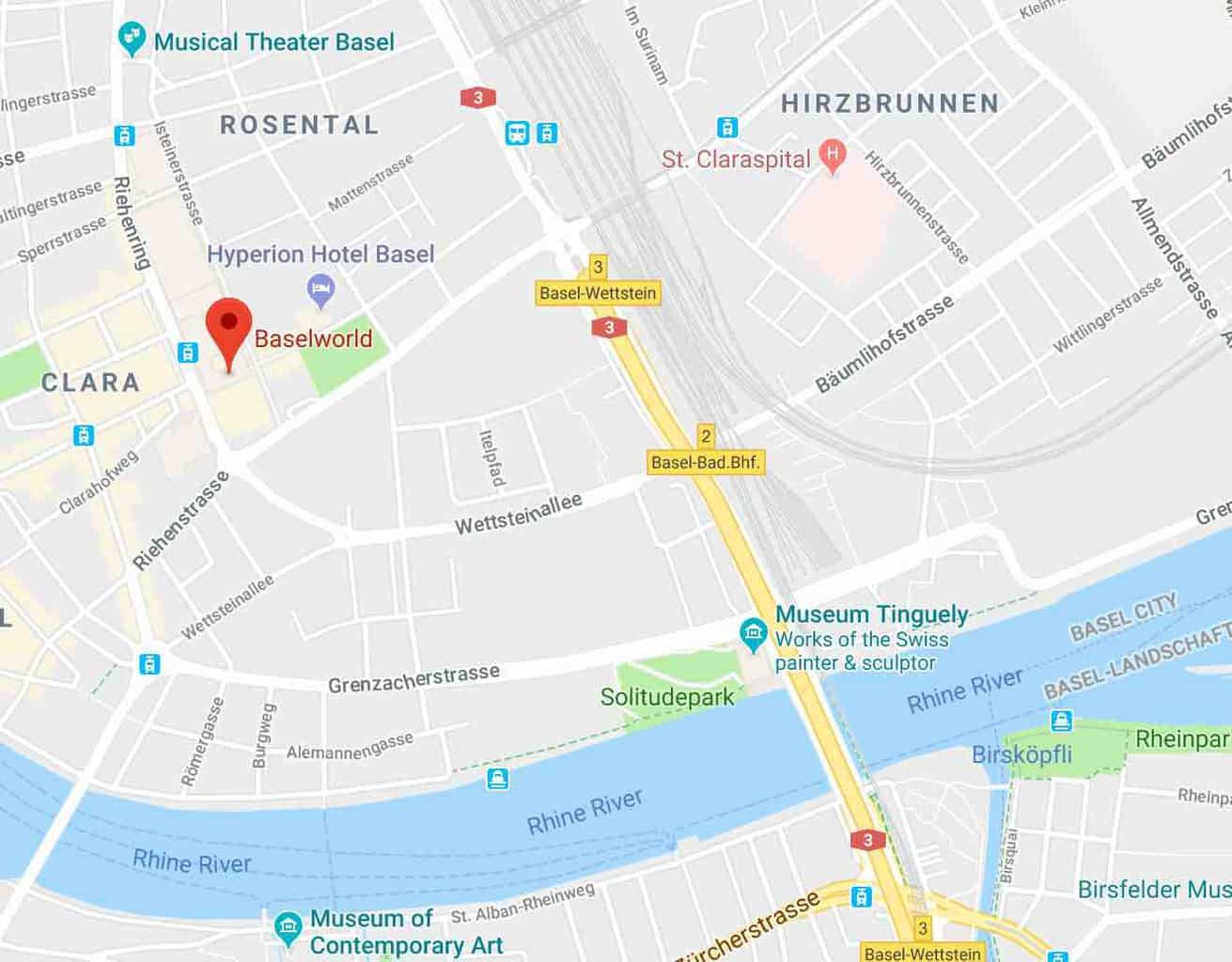 Map of the Messe Basel and Basel World
