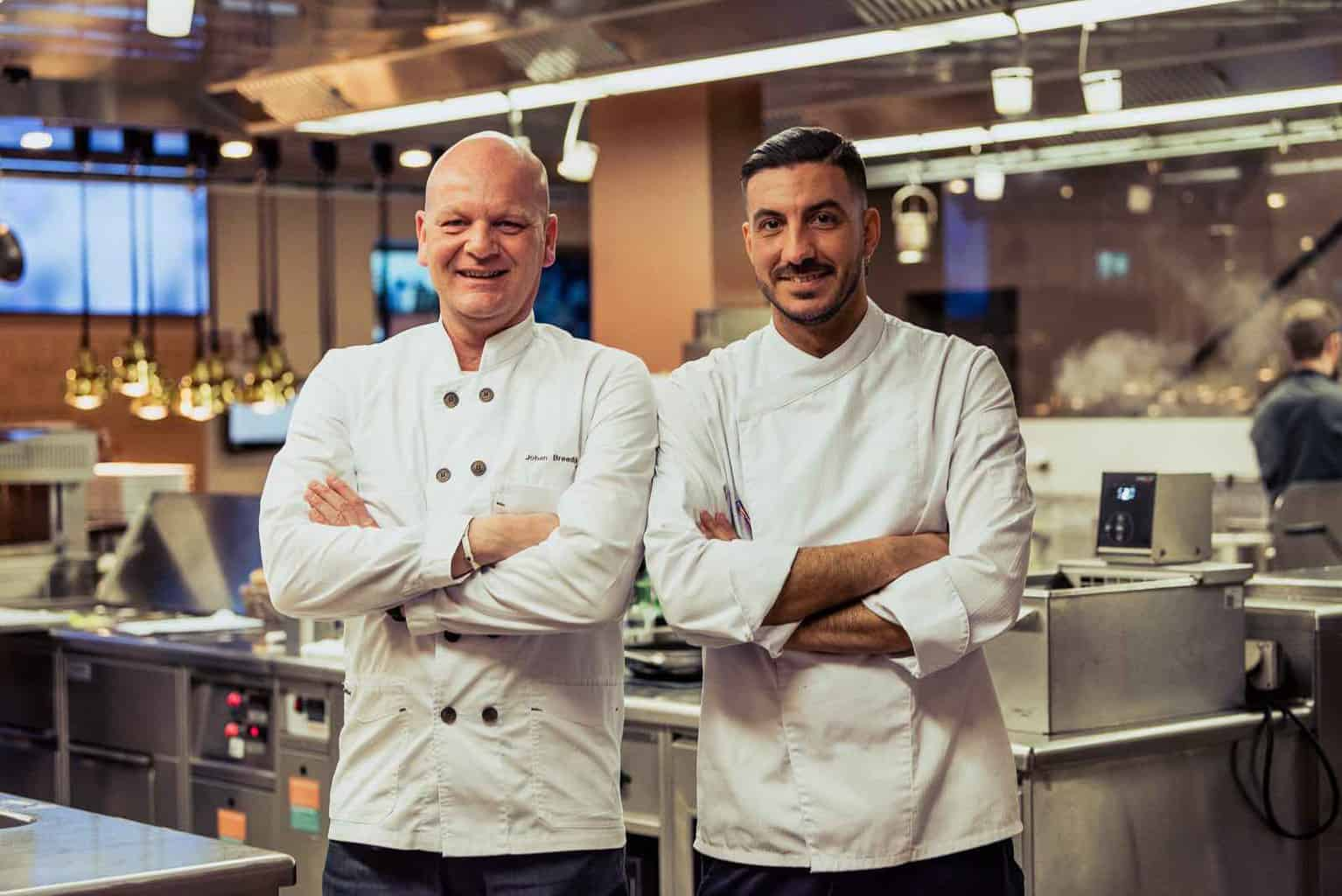 Chefs Rafa Martinez andJohan Breedijk
