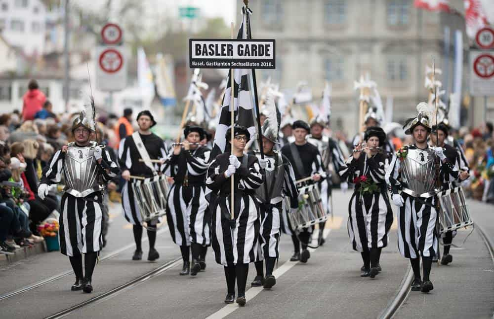 Basel Processions at Sechselaeuten 2018