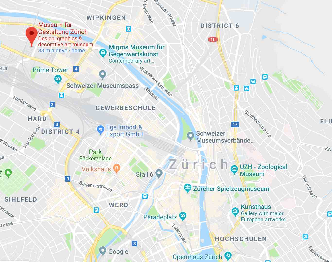 Google Maps Widder Hotel Zurich