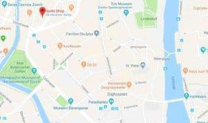 Google Maps Sushi Shop Zurich