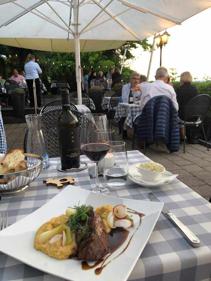 Dinner at hotel Wassberg Forch