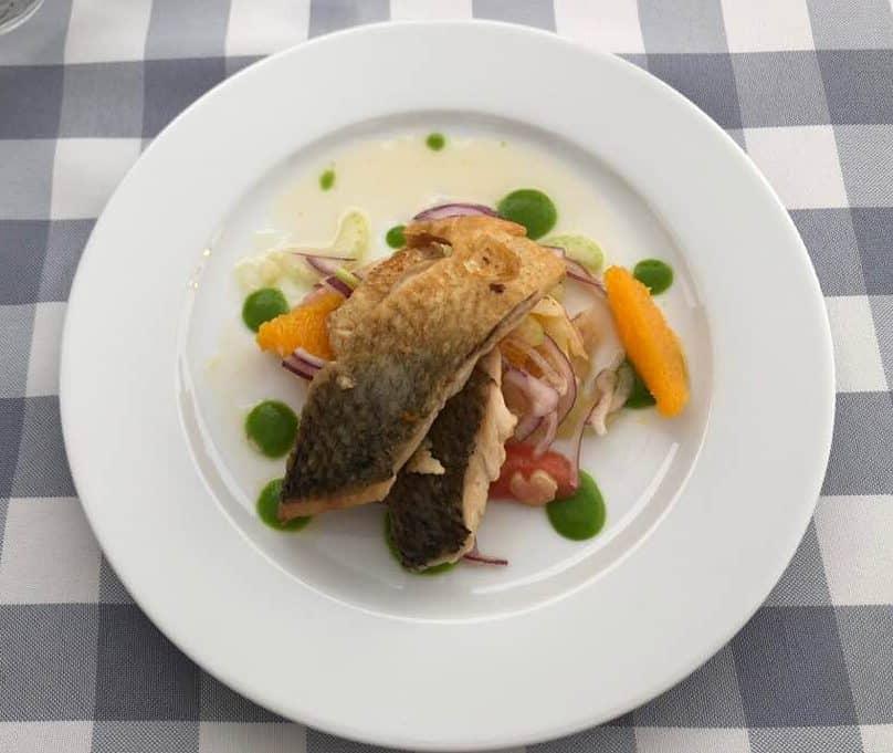 Felchen filets at Hotel Restaurant Wassberg Forch