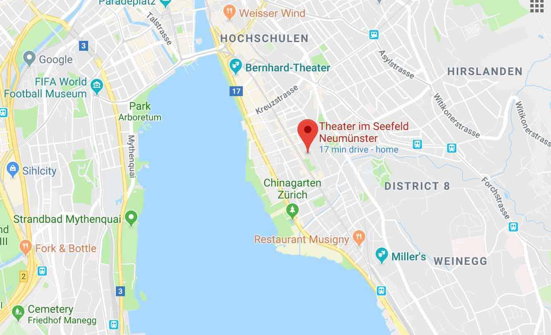 Google Maps of ZCC Theater Im Seefeld English speaking Theatre ...
