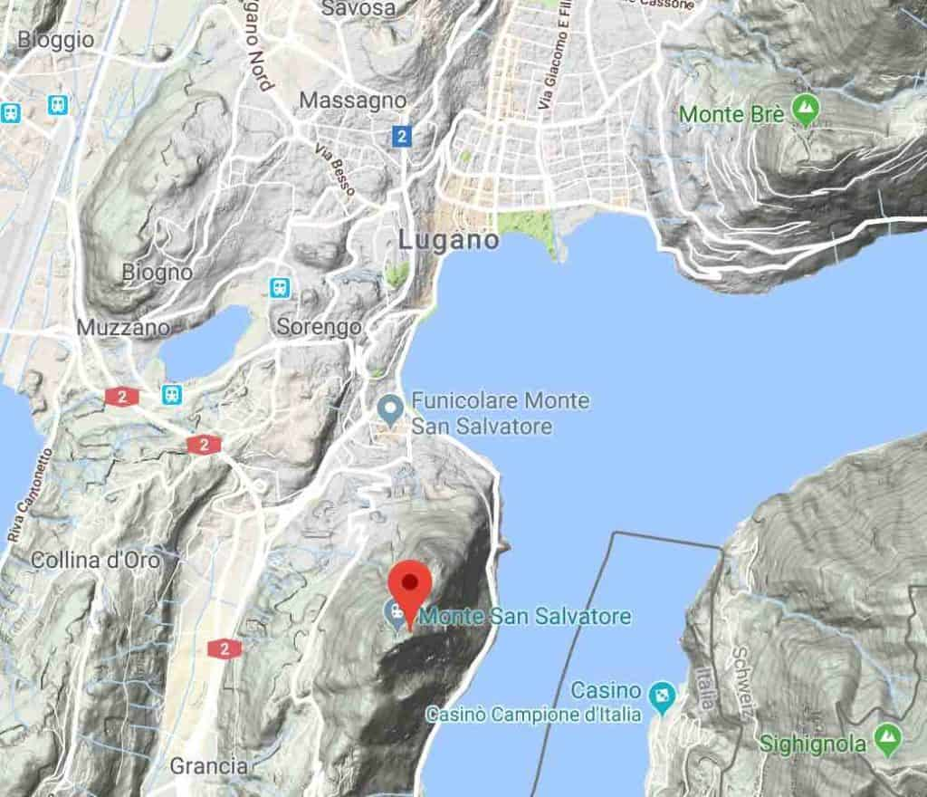 Google Map of Monte San Salvatore Lugano