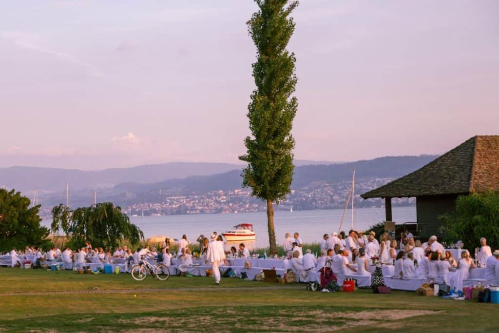 Dining on the lake in Küsnacht Switzerland