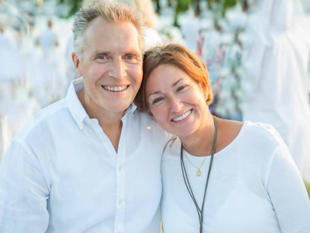 Renata and husband at White Part Zurich