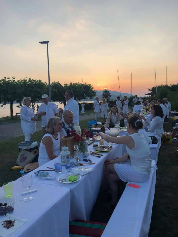 Eating on the Lake in Küsnacht 2018