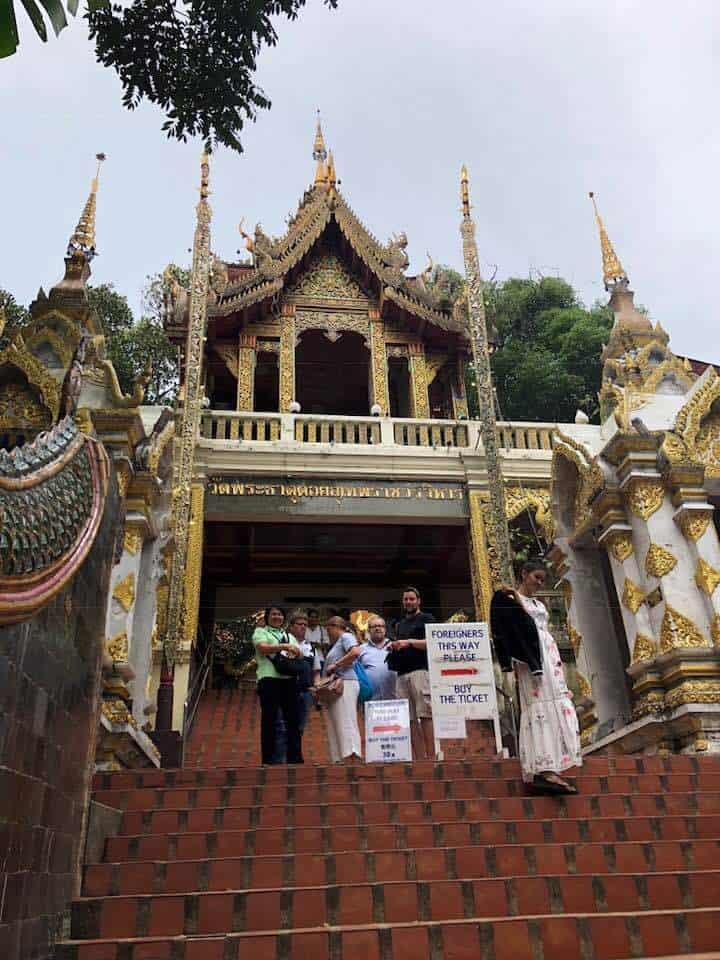 Wat Phrathat Doi Suthep in Chiang Mai Thailand