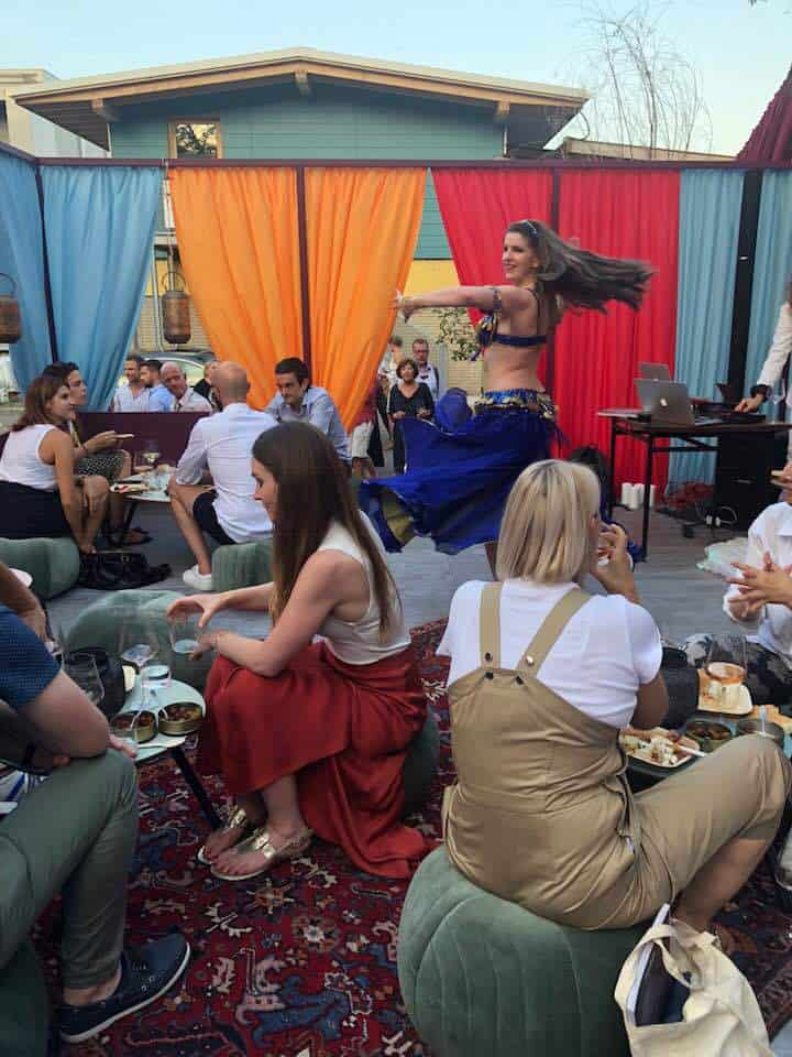 Belly dancing at the Hidden Garden Restaurant Zurich