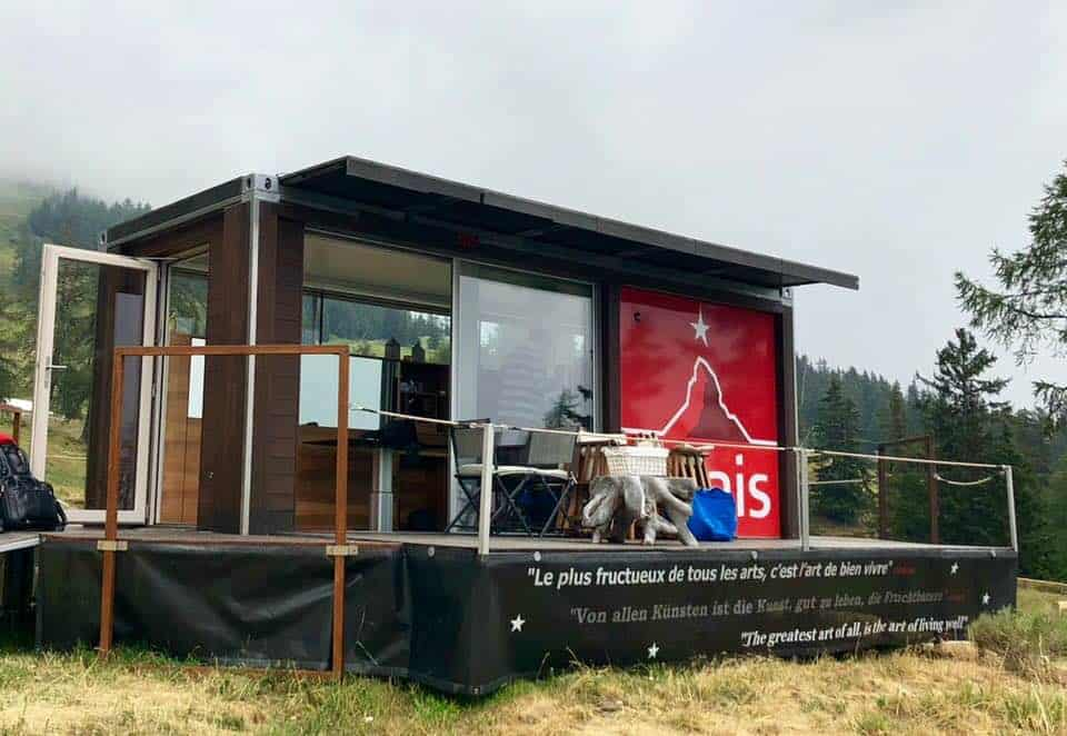 Glamping in Crans Montana at the Cube365 Pop Up Hotel