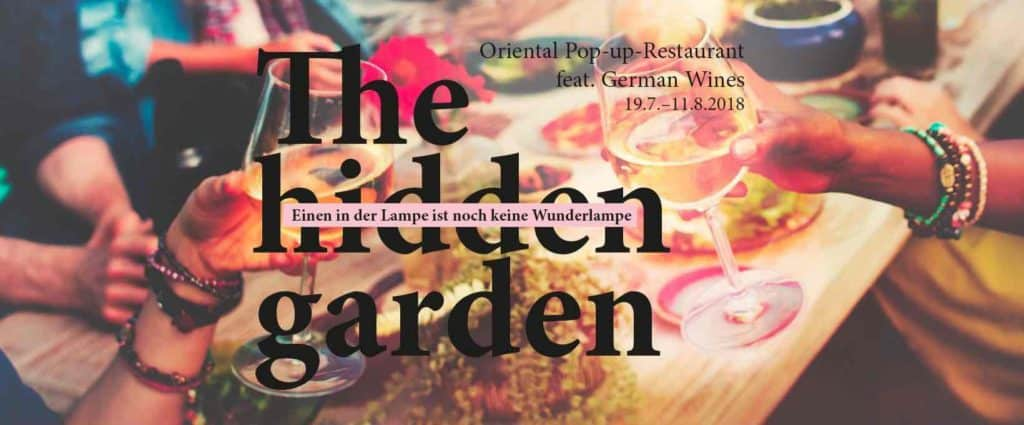 Hidden Garden Oriental Pop Up Restaurant Zurich