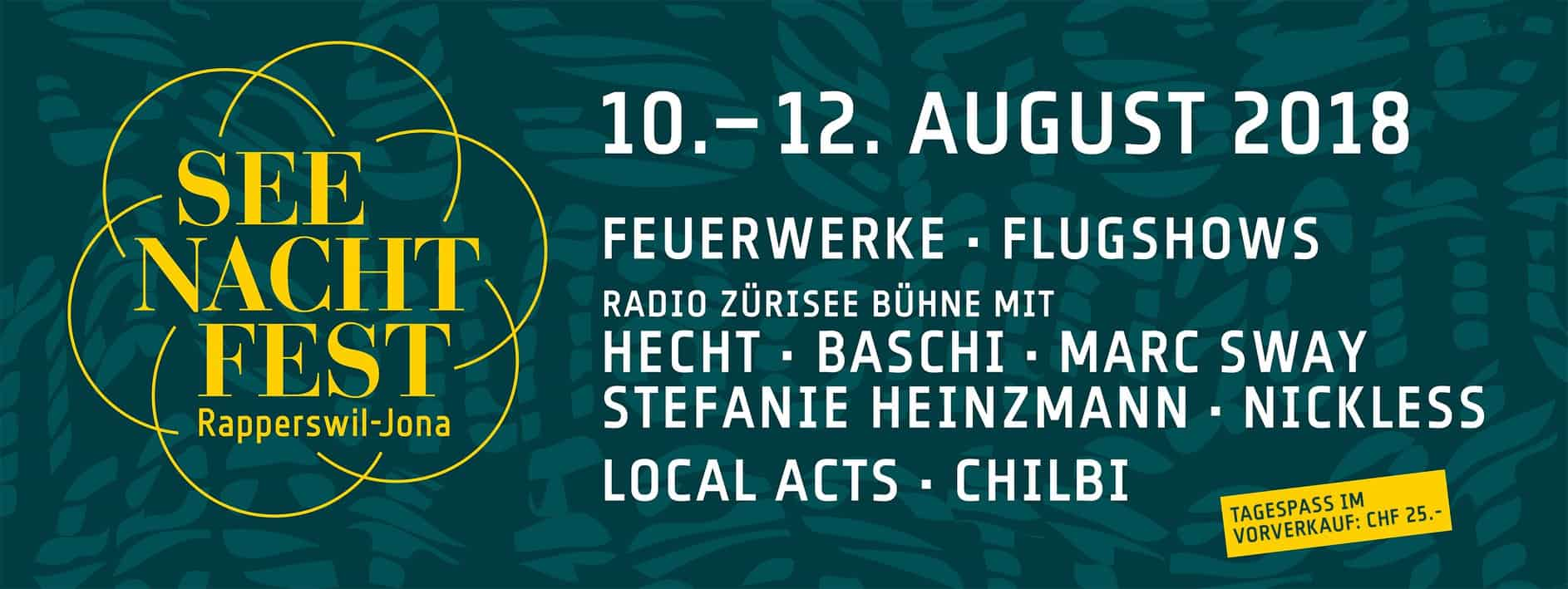 What's On in Zurich Mid August 2018 Onwards