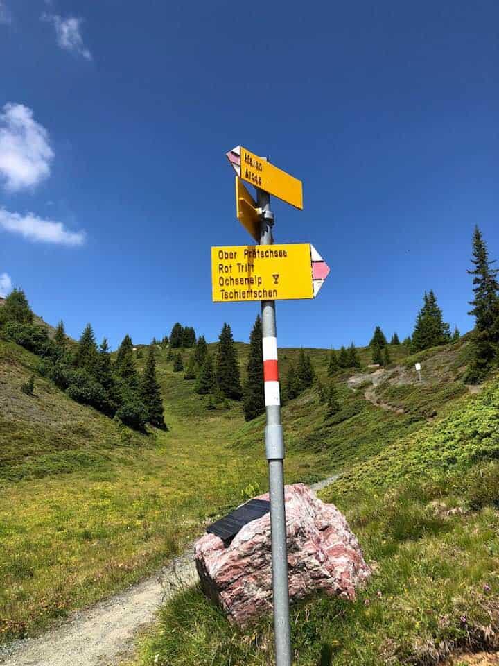 Hiking at the Hotel Valsana Arosa Switzerland