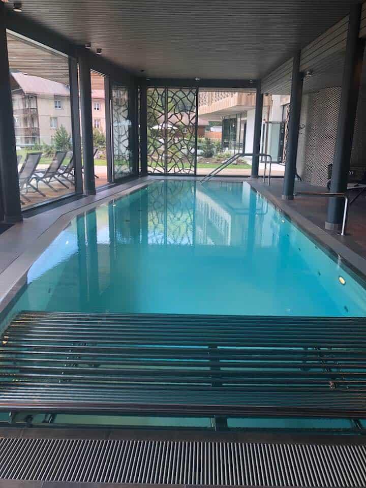 Swimming pool at Hotel Valsana in Arosa