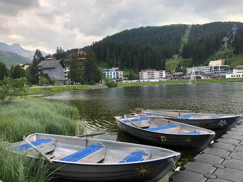 Boating at Hotel Valsana Arosa Switzerland
