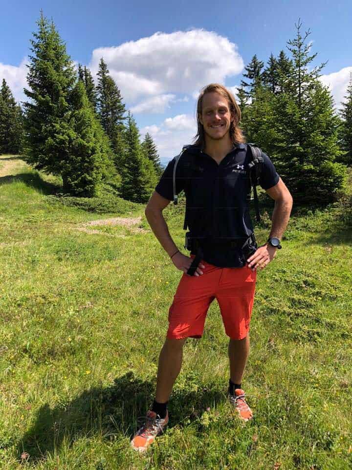 Julian hiking and fitness trainer at Hotel Valsana Arosa