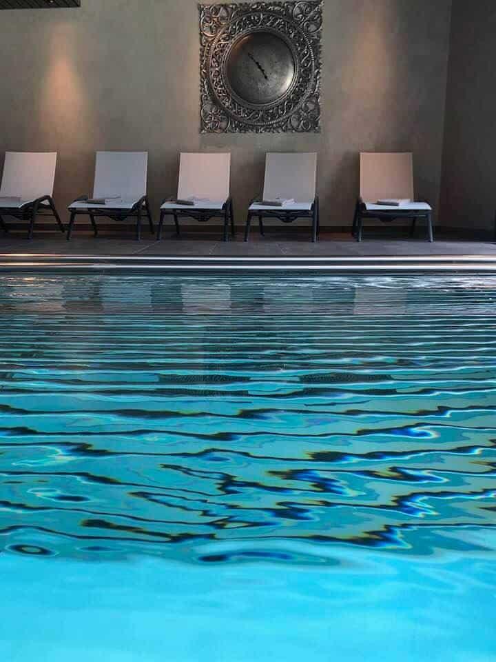 Spa and pool at Hotel Valsana Arosa