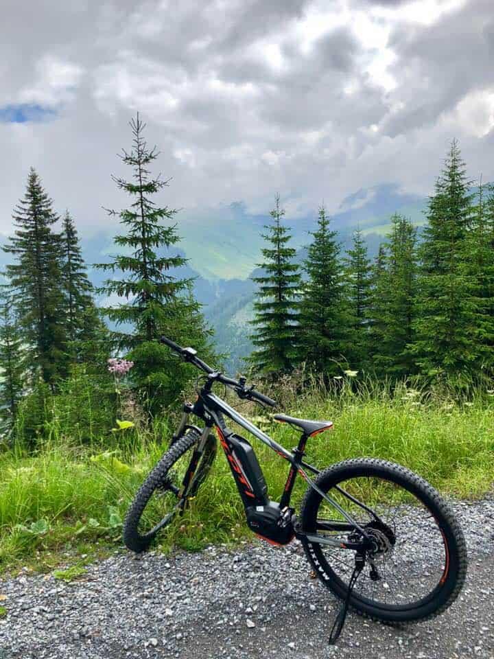 E-biking at the Hotel Valsana in Arosa Switzerland