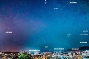 Shooting Stars Over Zurich - Perseids by Lorenzo Borghi