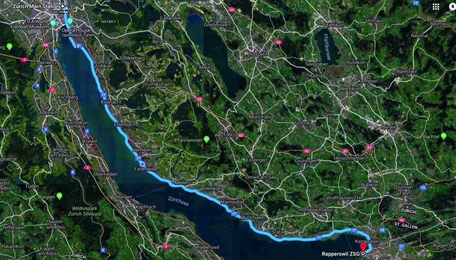 Zurich to Rapperswil