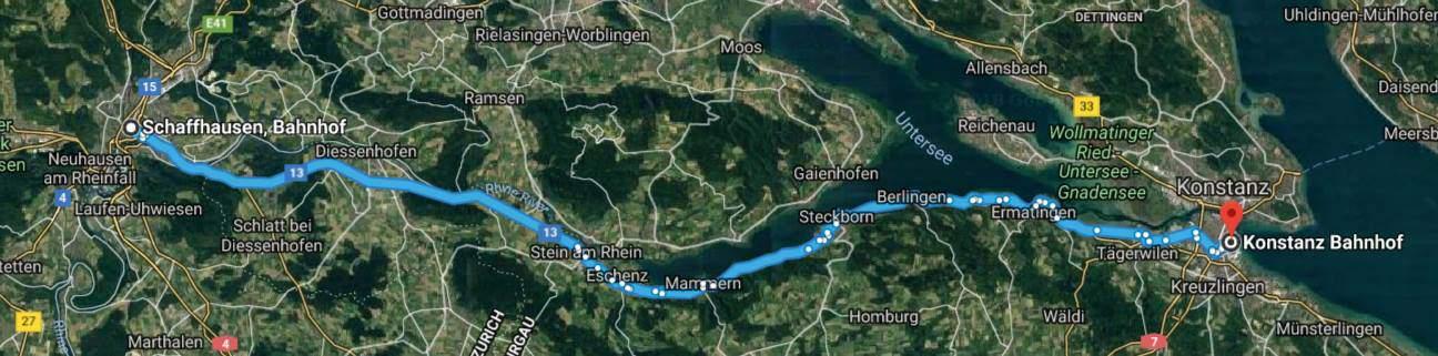 Shaffhausen to Konstanz