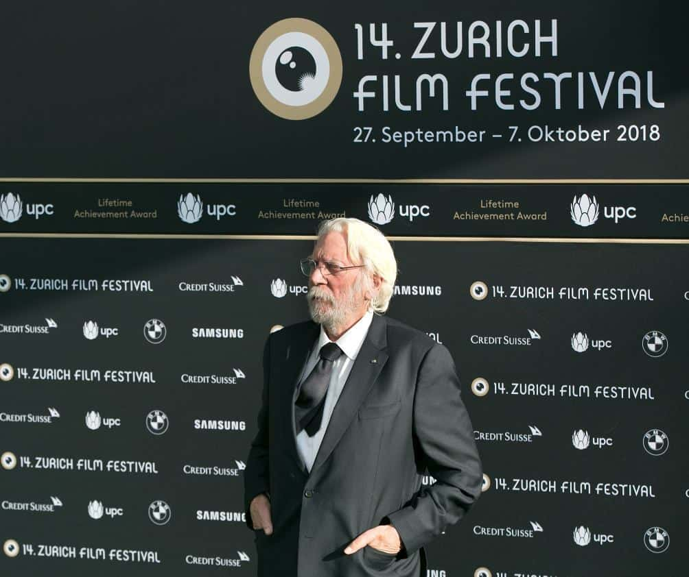 Donald Sutherland at Zurich Film Festival 2018