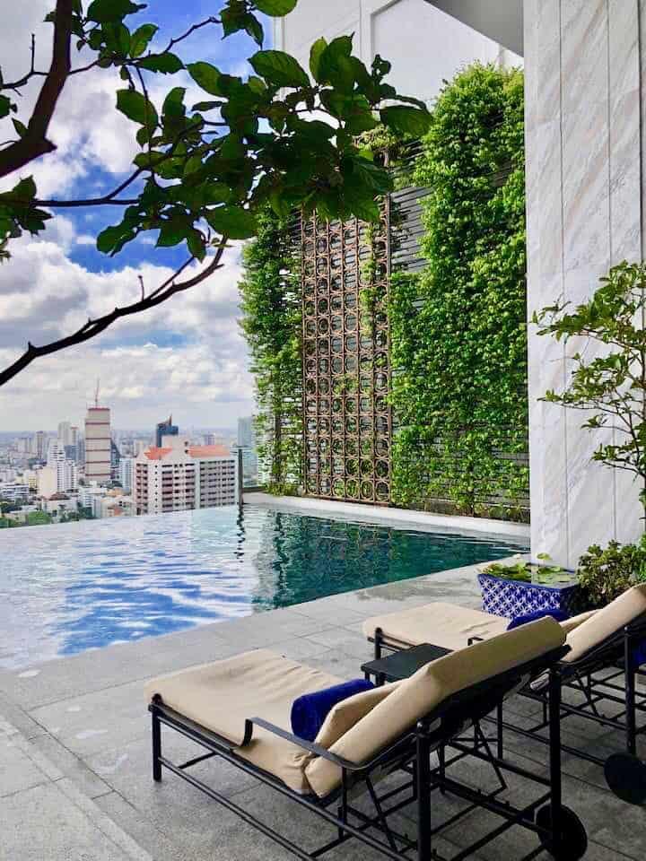 Rooftop pool at 137 Pillars Suites Bangkok