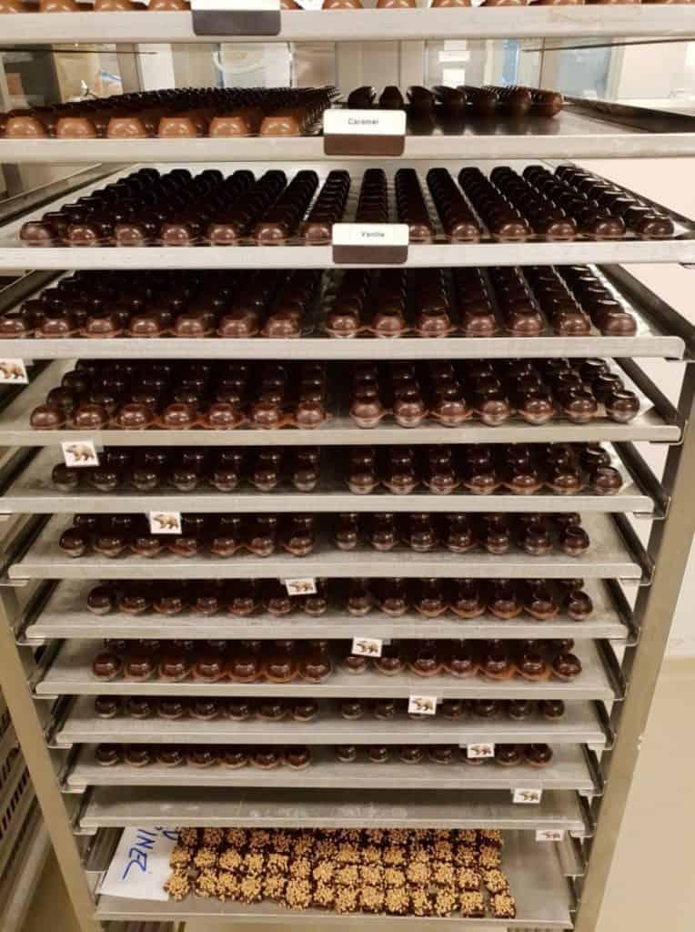 Tasting chocolates at Confiserie Honold Küsnacht
