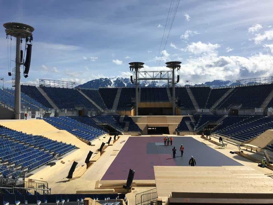 Stadium at Fête Des Vignerons 2019 Vevey Switzerland